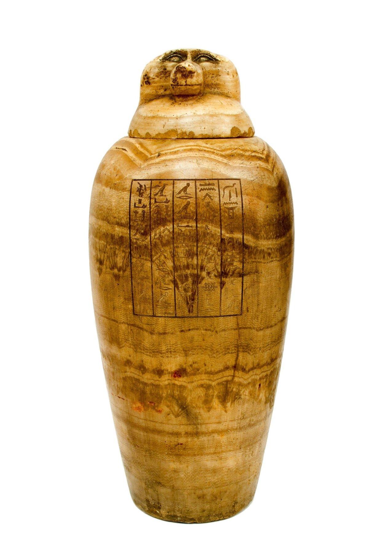 Алебастровый каноп из гробницы Пади-Хоремхеба