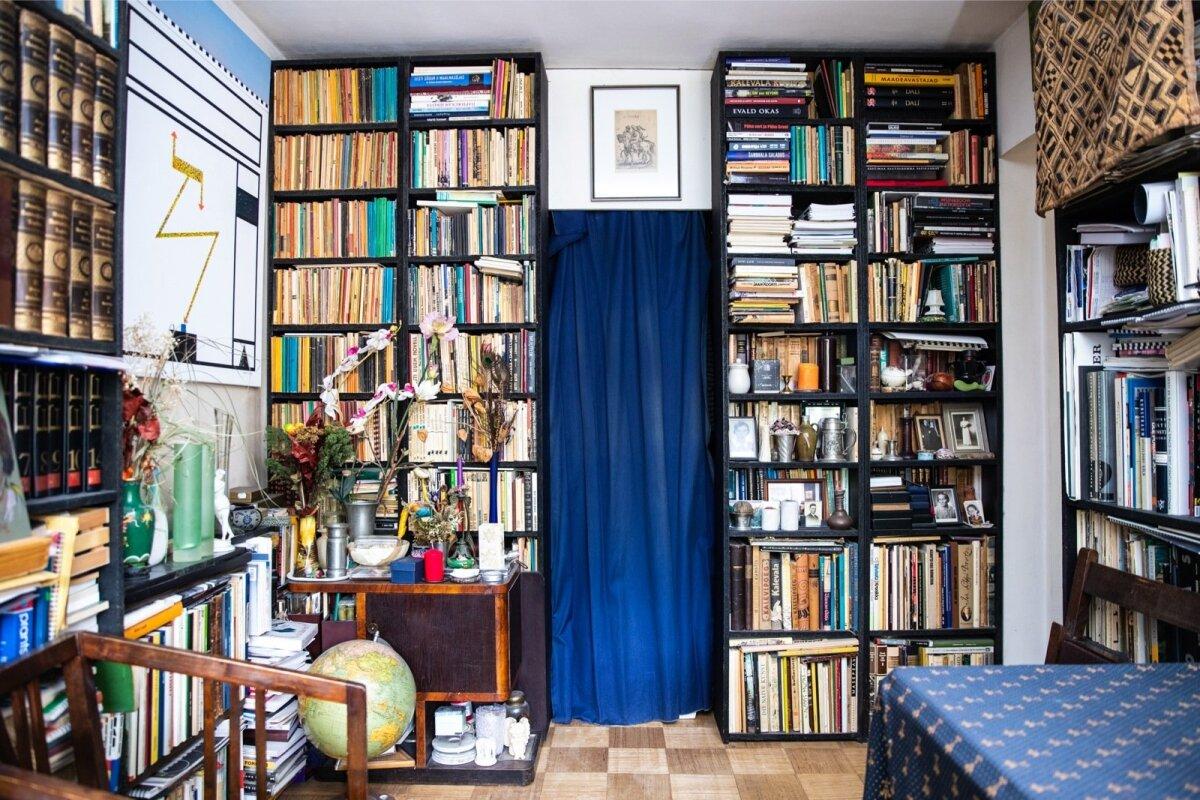 Raamatuid on Mare kahetoalises korteris sadu või isegi tuhandeid.