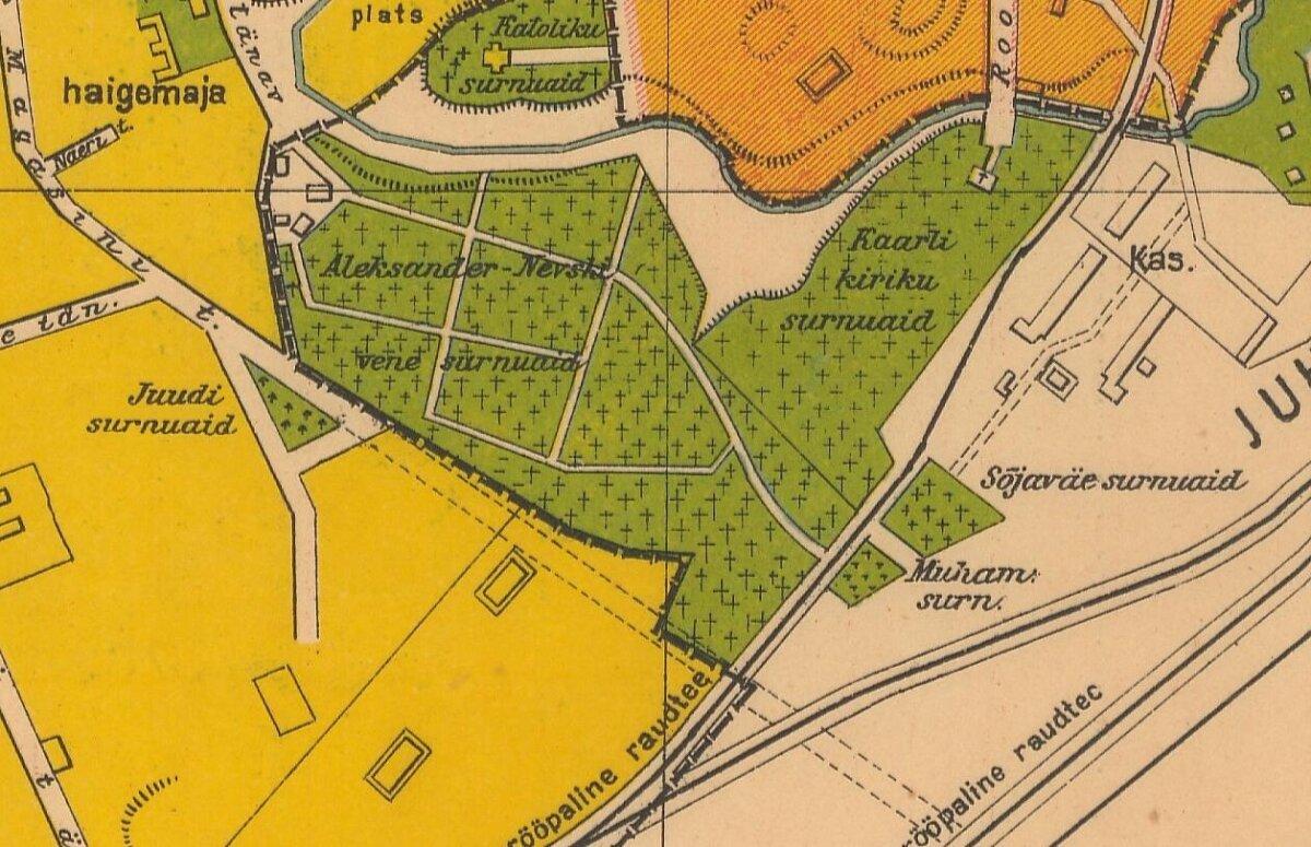 Muhameedlaste surnuaed asus Kaitseväe kalmistu naabruses