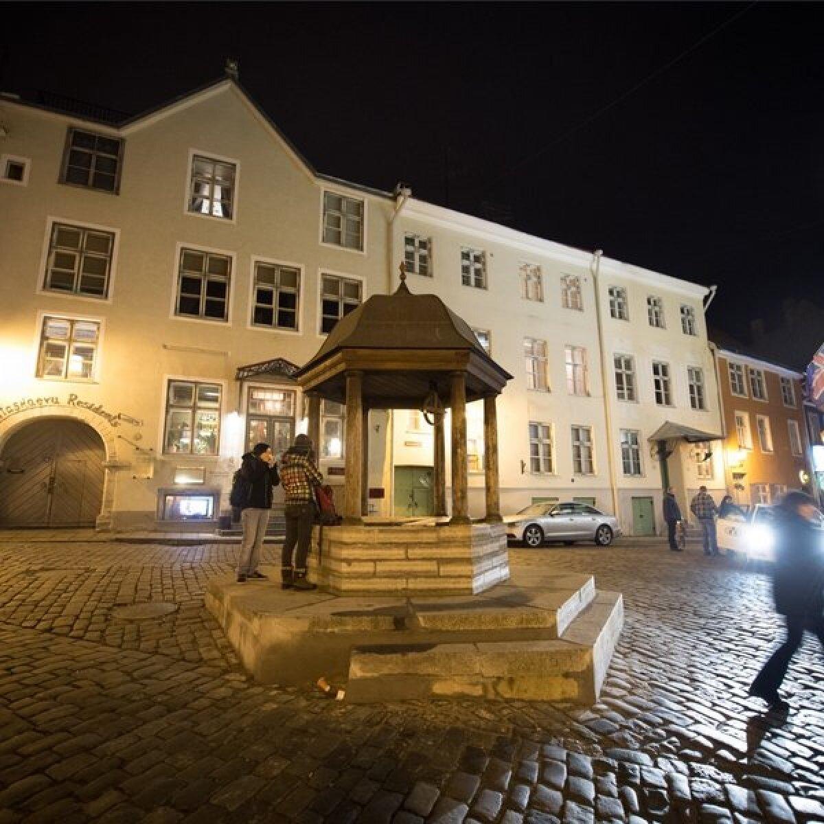 Kummituslik Tallinna vanalinn. Rataskaevu kassikaev.