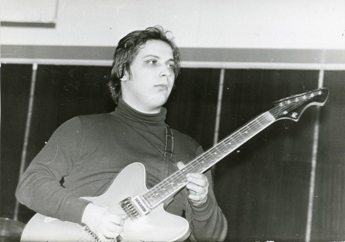 Ansambli Dr. Friedrich kitarrist Ain Varts. Tartu levimuusikapäevad '79 kontsert Vanemuise kontserdisaalis