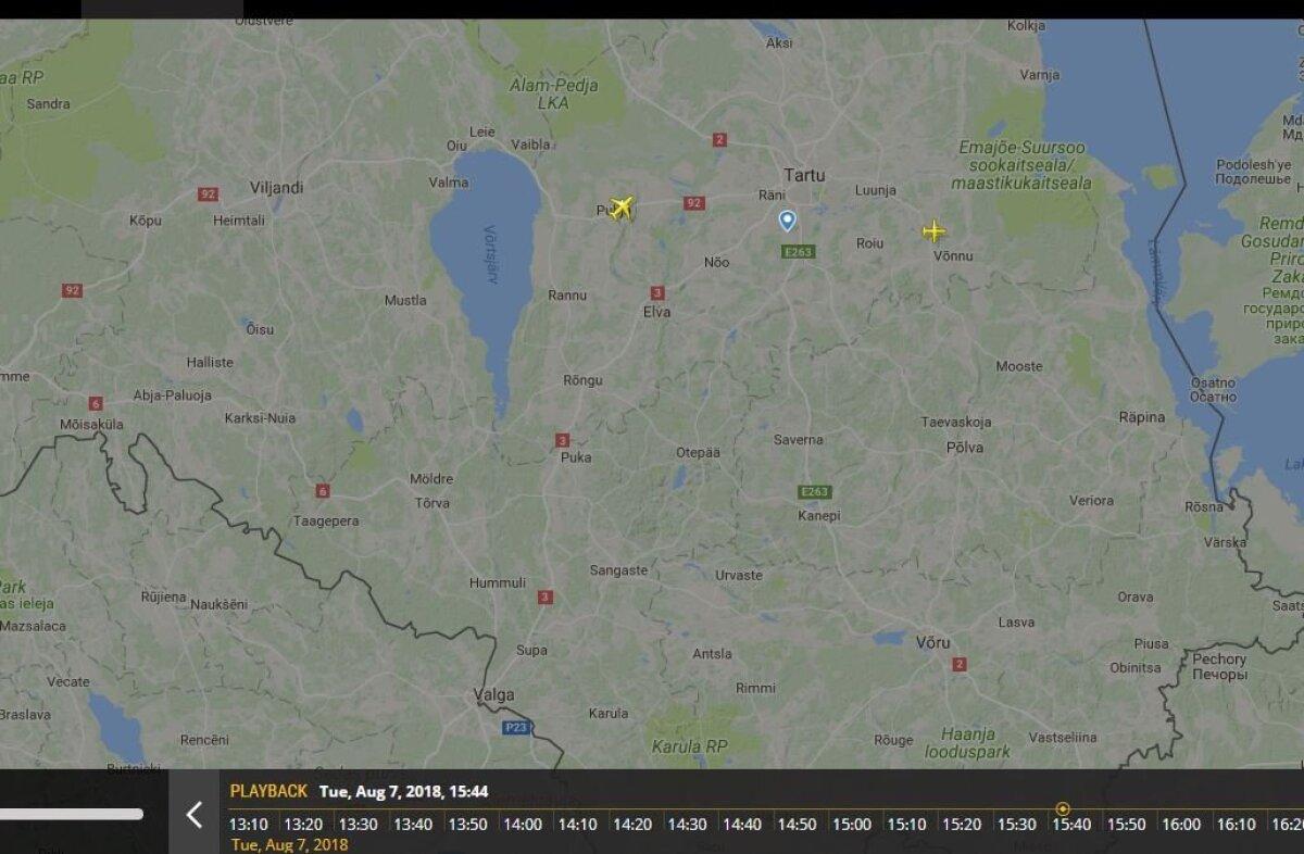 Lennukid Tartu kohal