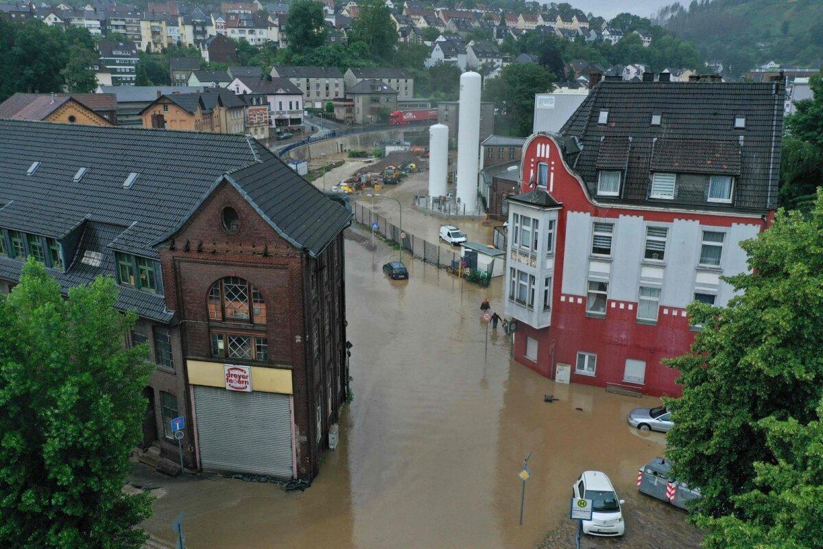 Üleujutatud Hageni linn Saksamaal