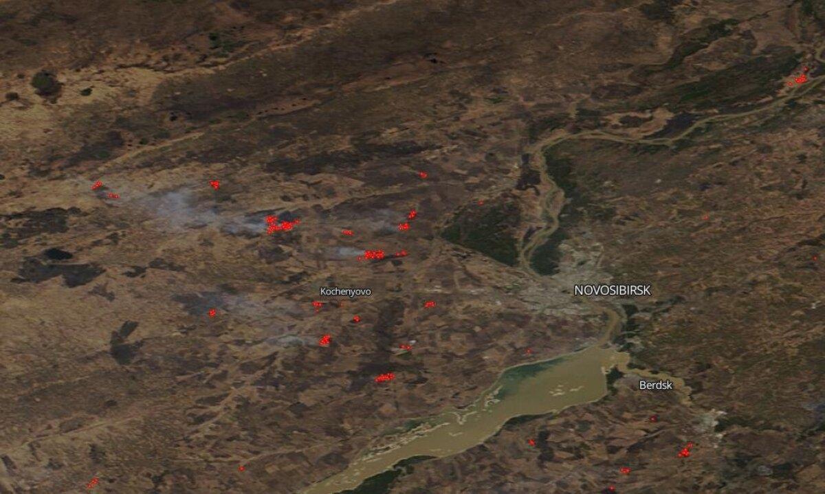 NASA satelliidi Terra tehtud pilt 27. aprillil