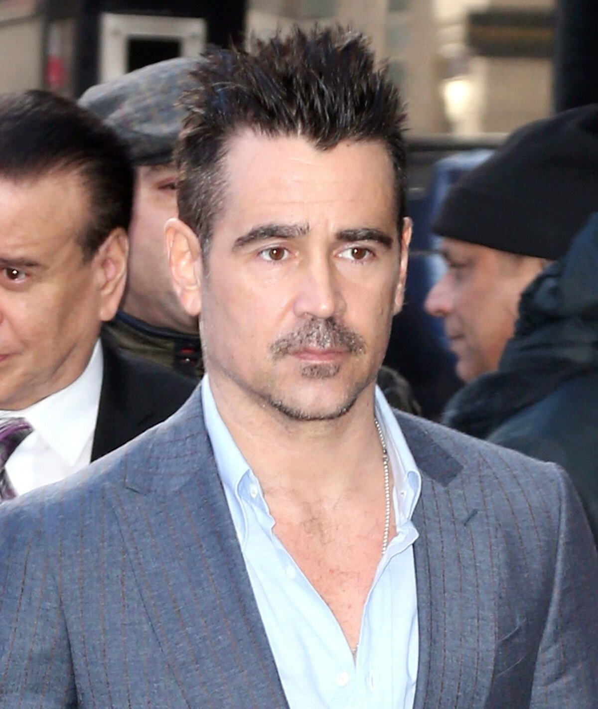Colin Farrell visits Good Morning America in New York