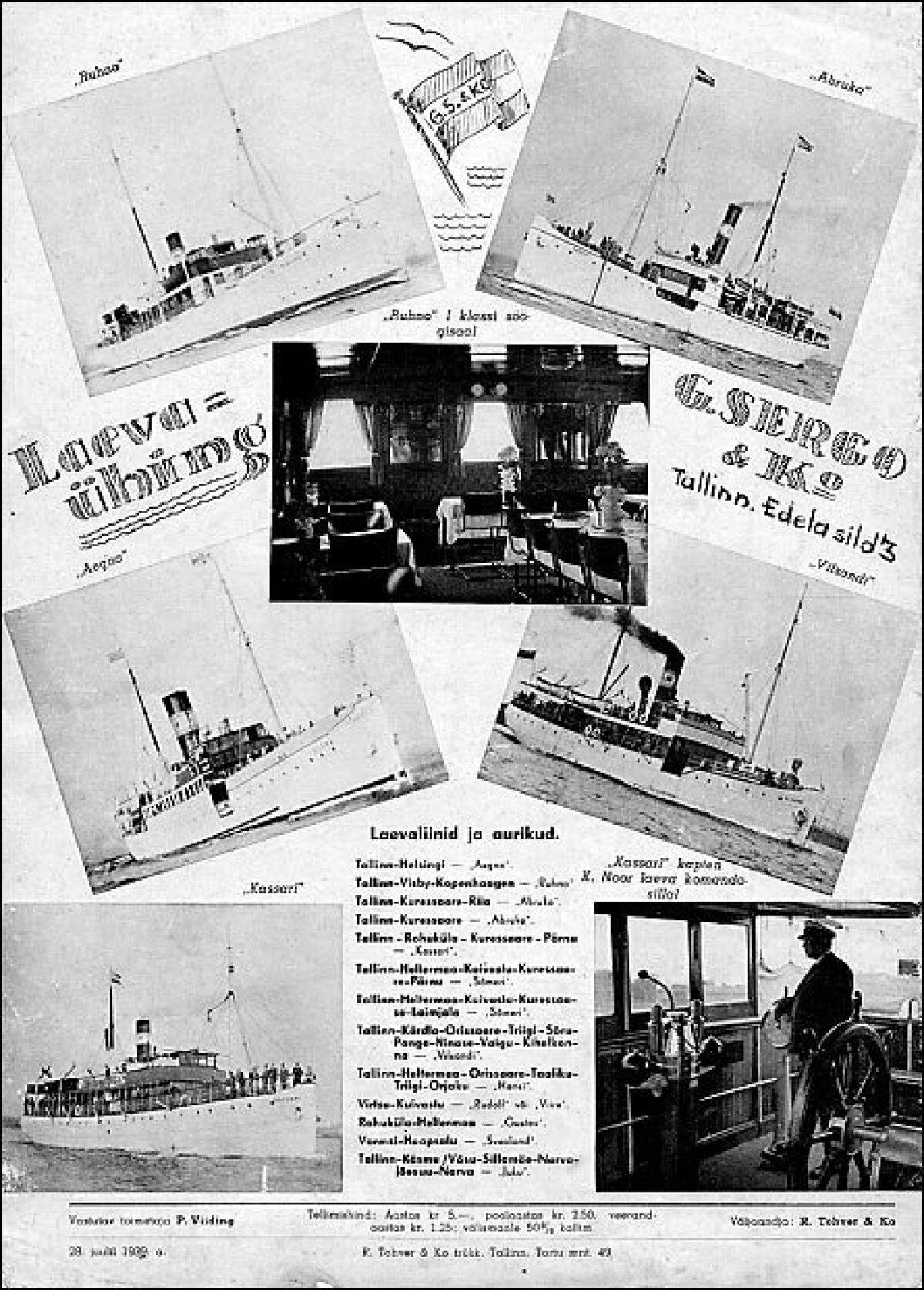 Ajakiri Nädal Pildis. Juuli 1939