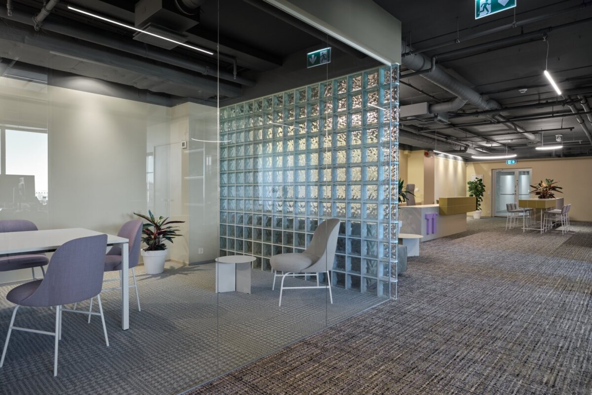 Ace of Space'i loodud sisearhitektuur T1 kontoris