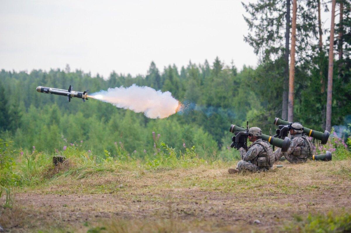 Tankitõrjeraketisüsteemi Javelin näidislaskmine