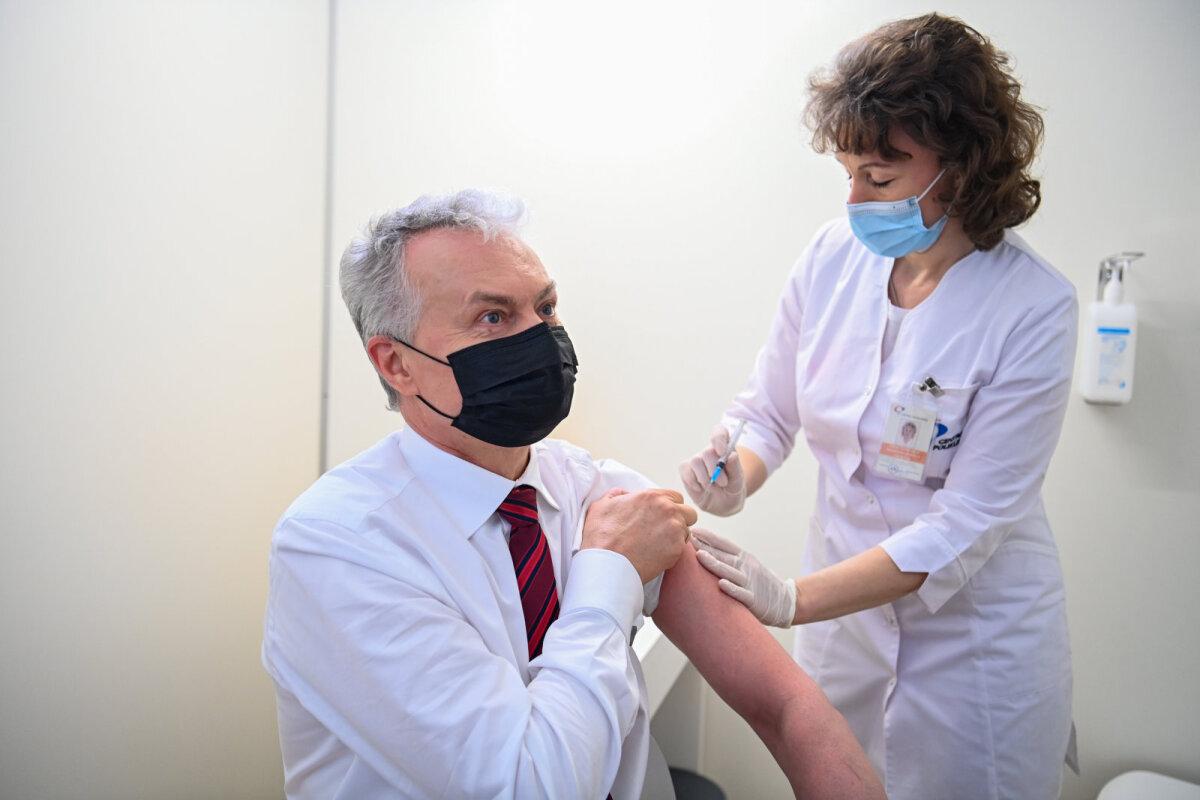 Leedu president Gitanas Nausėda täna vaktsineerimas.