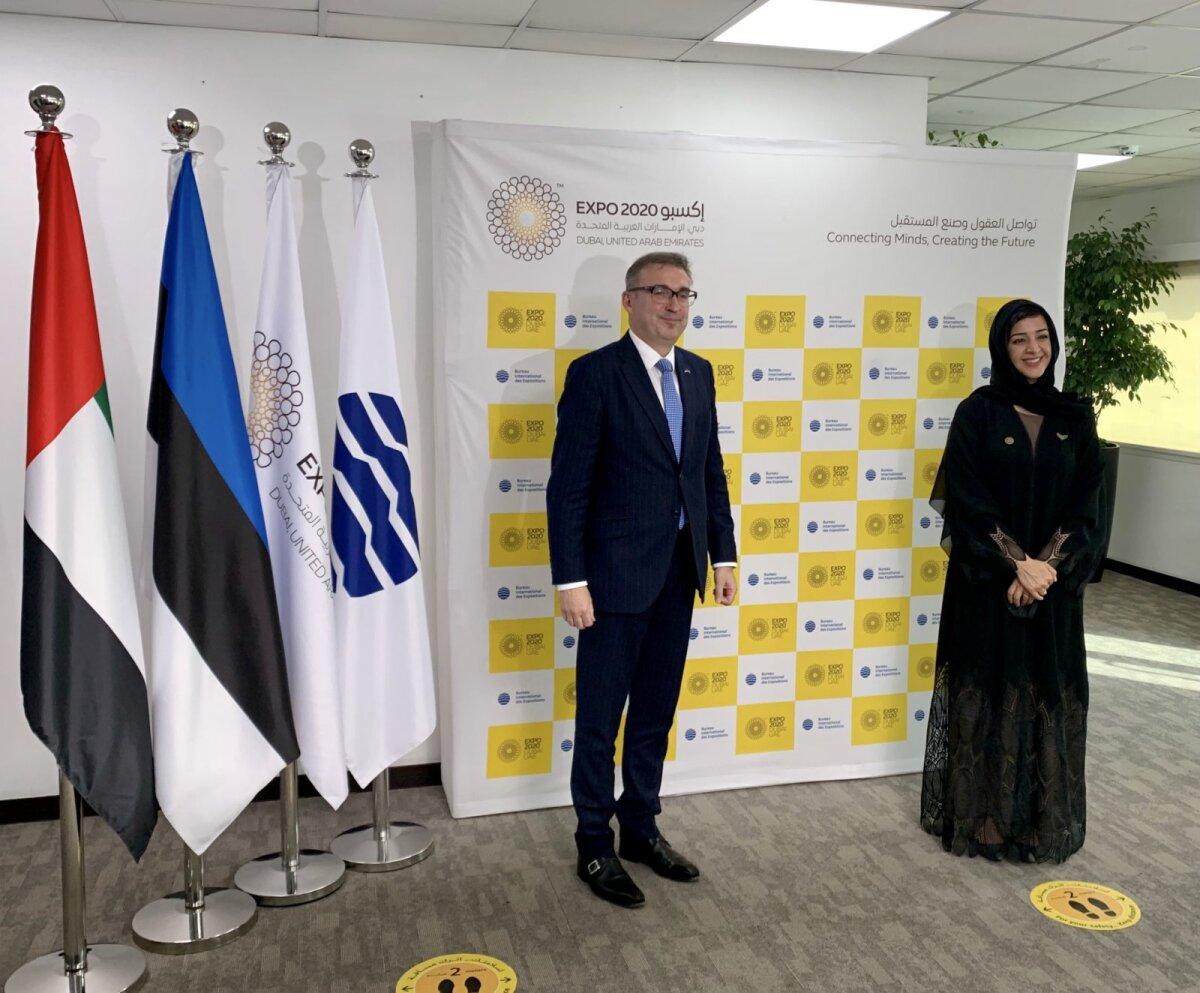 Andres Sutt ja Dubai maailmanäituse tegevjuht Reem Al Hashimy