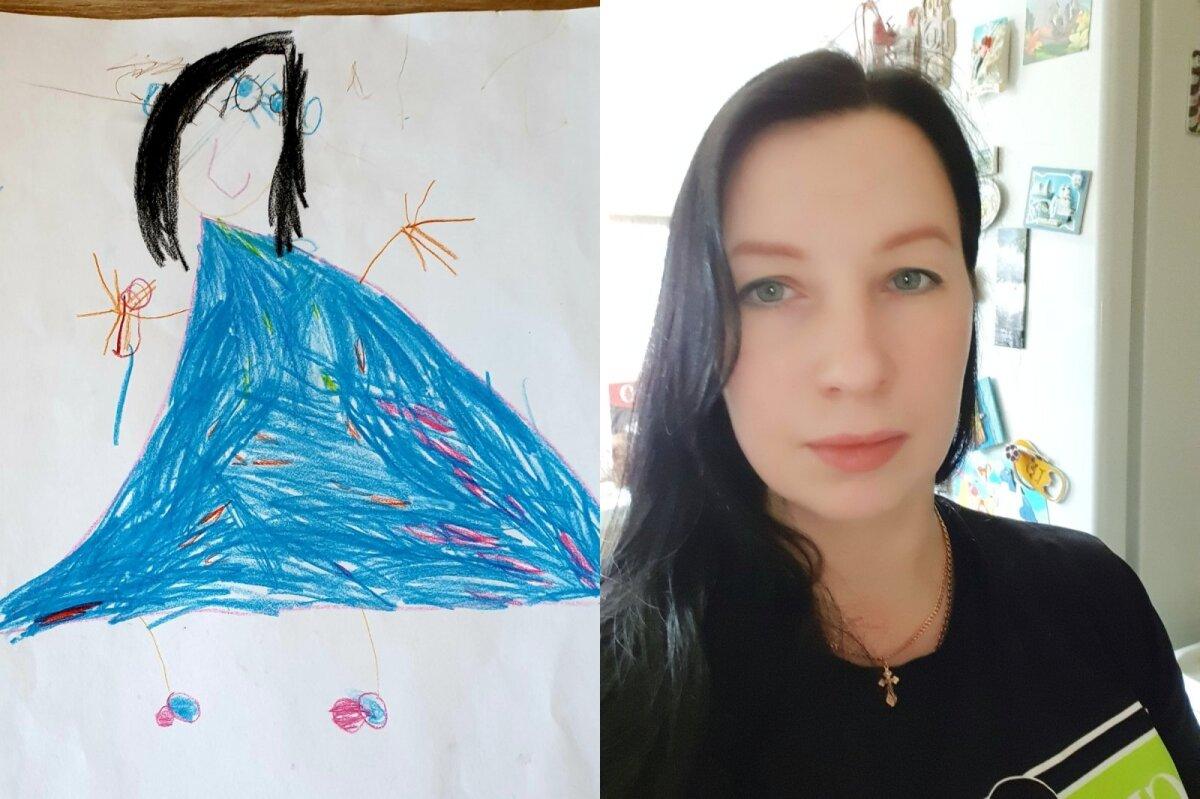 Алекс Мялк (5 лет) и мама Юлия