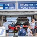 Rally Estonia suursoosikute Ott Tänaku ja Martin Järveoja auto oli juba teisipäeva õhtul rallipargis.
