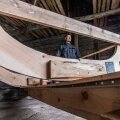 Algor Streng on alustanud Vormsi talumuuseumi kuuris 14. paadi ehitust.