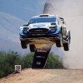 Fordi auto WRC kihutamisel 14. märtsil Mehhikos, roolis Teemu Suninen, kaaspiloot Jarmo Lehtinen. (Foto: AFP)