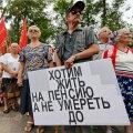 FOTOD JA VIDEO | Venemaal avaldati meelt pensioniea tõstmise vastu
