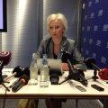 Кристина Оюланд на пресс-конференции