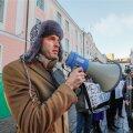 Rainer Vakra metsakaitsjate protestiüritusel Tallinnas