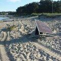 Stroomi rannas lõhuti pinke ja rannakabiine
