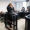 Edgar Savisaare kohtuistung. Tunnistajapingis on Vilja Toomast