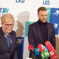 TS-LKD peaministrikandidaat Ingrida Šimonytė ja esimees Gabrielius Landsbergis