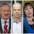 Presidendikandidaadid Marina Kaljurand, Siim Kallas, Allar Jõks, Mailis Reps ja Mart Helme