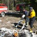 ФОТО: На Сааремаа прошли большие двухдневные учения по тушению леса
