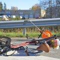 Jalgrattur ja kaubik põrkasid kokku (pilt on illustratiivne).