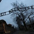 This photo taken on December 04, 2008 shows the entrance to Auschwitz, former Nazi death camp, in Oswiecim. AFP PHOTO VALERY HACHE