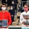 Djokovic ja Nadal eelmise aasta French Openi finaalis.