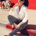 Mustrilised püksid on trendikad, aga ära selliseid vigu küll nende kandmisel tee