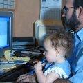 isa lapsega tööl