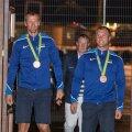 ФОТО и ВИДЕО DELFI: Бронзовые призеры Олимпиады в Рио вернулись домой!