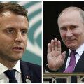Versailles's Putinit võõrustav Macron lubas karmi juttu rääkida