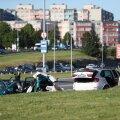 SEEGI OLI TÖÖSÕIT: Laagna teel kihutades mitme hukkunuga avarii põhjustanud Isa Khalilov roolis ainult töösõitudeks mõeldud BMW maasturit, mille number 999 ISA.
