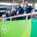 Eesti politseinikud Rio de Janeiro olümpia meeste kettaheite kvalifikatsiooni ajal