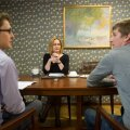 Juhtiv riigiprokurör Heili Sepp selgitab Kristjan Pihlile (vasakul) ja Holger Roonemaale antud intervjuus, et tema hinnangul on avalikkus ringkonnakohtu otsust Jarek Pavlihhini süüasjas vääriti tõlgendanud.