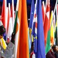 Erinevate maade lipud Rio mängude avatseremoonial.