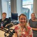 Saatejuht Sabina Sägi (vasakul), Järvamaa kutsehariduskeskuse projektijuht Merje Mölter ja Tallinna ülikooli väliskülalisõpilaste koordinaator Ingrid Hinojosa.