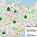 Управа района Кесклинн просит приносить рождественские елки в контейнеры