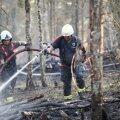 FOTOD   Kaitseväe keskpolügoonil puhkes metsapõleng, päästjad reageerisid suurte jõududega