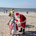 Jõuluvana Pärnu rannas
