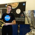 Andris Slavinskis oma NASA kontoris. Autor/allikas: Jan Stupl