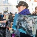 Loomakaitsjate rongkäik Tallinna vanalinnas