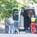 Päästeamet ja politsei üleeile Tartu maantee 53 hoone juures