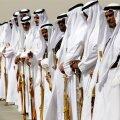 Pärsia lahe koostöönõukogu 2011. aasta kohtumine Saudi Araabia pealinnas Ar-Riyadis. Pildil ootab kullatud mõõkadega saudide auvalve saabujaid.