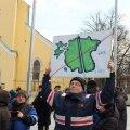 Rail Balticu vastane meeleavaldus