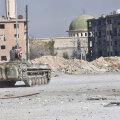 Süüria valitsusvägede soomuk esmaspäeval mässuliste käest võetud Al-Haidariya linnaosas