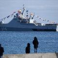 Корабль российского ВМФ в Крыму