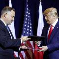 Poola president Andrzej Duda ja USA riigipea Donald Trump mullu New Yorgis.