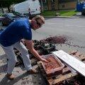 Maasikamüüja Tellsikivi tänaval